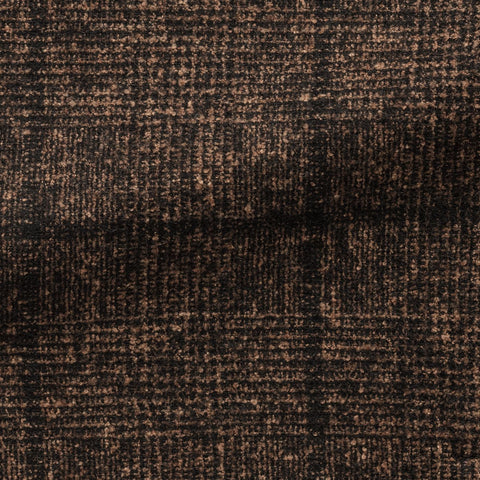Ferla Dark Brown Black Brushed Alpaca Cotton Blend with Glencheck