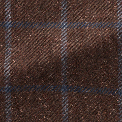 brown-burgundy-mélange-wool-alpaca-silk-twill-with-light-blue-windowpane Fabric