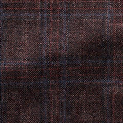 dark-burgundy-wool-silk-cashmere-with-subtle-blue-check Fabric