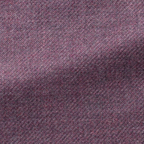 Loro Piana Lilac Brushed Wool Silk Twill
