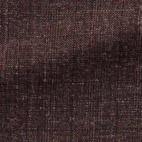 Angelico Dark Burgundy Black Stretch Mouliné Wool Cotton Blend