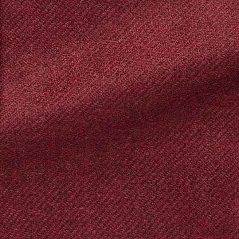 Loro Piana Dark Raspberry Brushed Wool Silk Faux Uni Twill