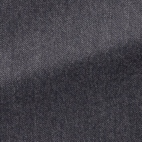 dark slate blue faux uni wool herringbone