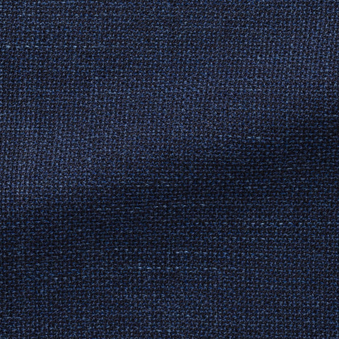 Angelico Blue Mélange Wool Linen Blend Mesh