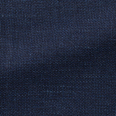 blue-mélange-wool-linen-blend-mesh Fabric