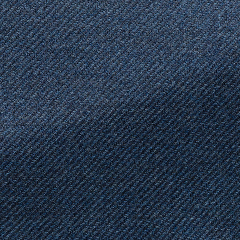 Loro Piana Royal Blue Brushed Wool Silk Faux Uni Twill