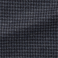 midnight-blue-white-wool-silk-mélange-houndstooth Fabric