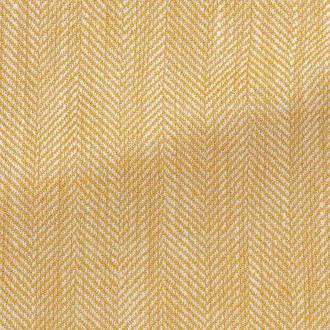 Ferla goldenrod white silk, linen & cotton blend slubbed herringbone