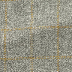 grey-wool-silk-linen-textured-twill-with-yellow-windowpane Fabric