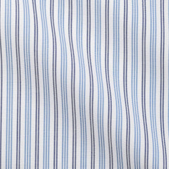 Albiate-plain-weave-stripe-light-blue-dark-blue Fabric