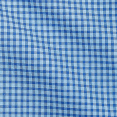 Albiate-check-light-blue-mid-blue Fabric