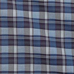 Albiate-check-mid-blue Fabric