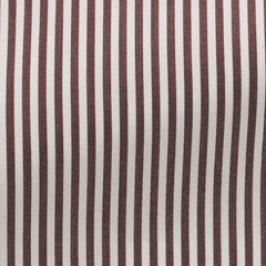 white-stretch-cotton-blend-with-brown-stripes-AAA*96gr Fabric