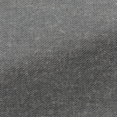 grey stretch cotton twill