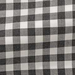 white-cotton-flannel-with-grey-check Fabric
