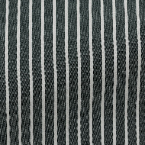 green stretch cotton blend with white stripes
