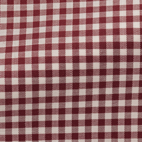 white cotton with red check