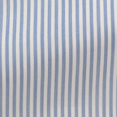 white-stretch-cotton-blend-with-mid-blue-stripes Fabric