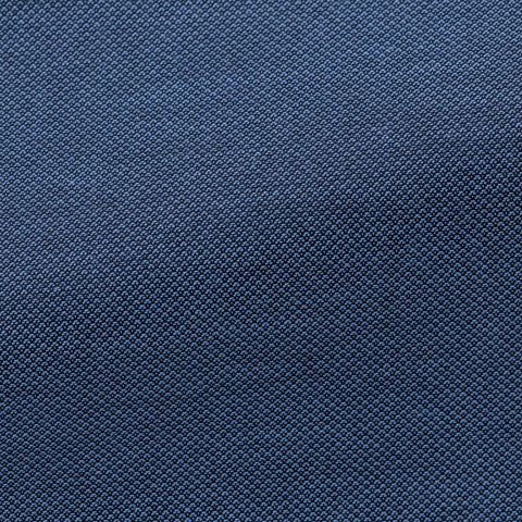 Albini Yarn-Dyed Blue Piqué Look Stretch