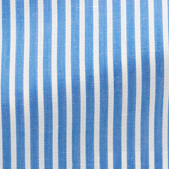 azure-blue-cotton-linen-twill-with-white-stitched-stripes-BB119gr Fabric