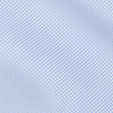 Thomas Mason dobby herringbone mid blue two-ply cotton
