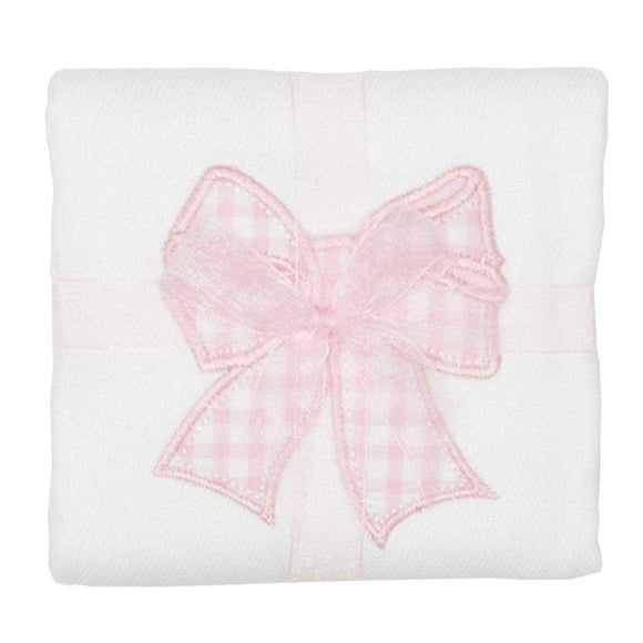 3 Marthas Baby Care 3 Marthas Appliqued Cotton Burp Cloth Bow