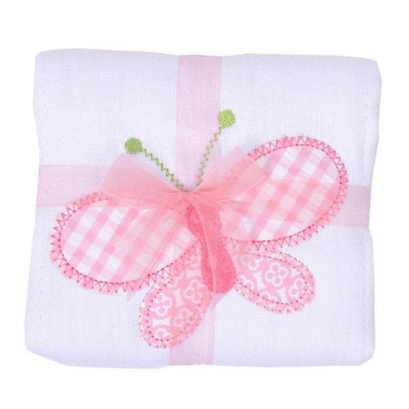 3 Marthas Baby Care 3 Marthas Appliqued Cotton Burp Cloth Butterfly