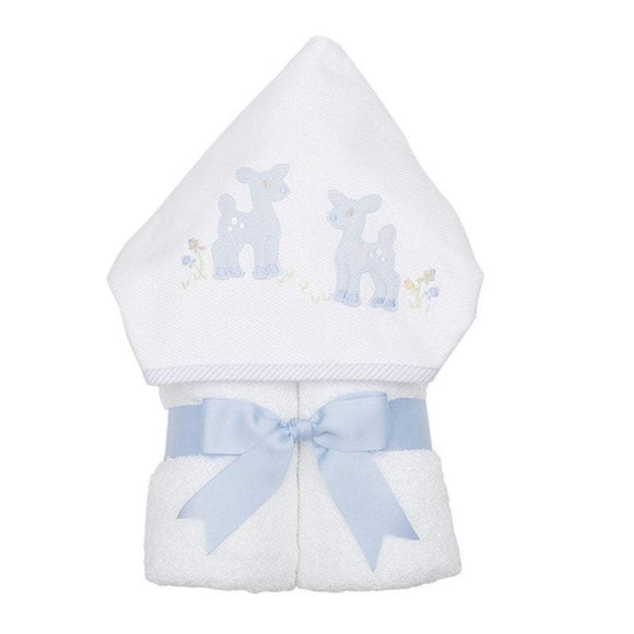 3 Marthas Baby Care 3 Marthas Everykid Hooded Towel Blue Deer