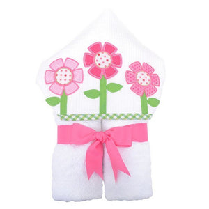 3 Marthas Baby Care 3 Marthas Everykid Hooded Towel Flower