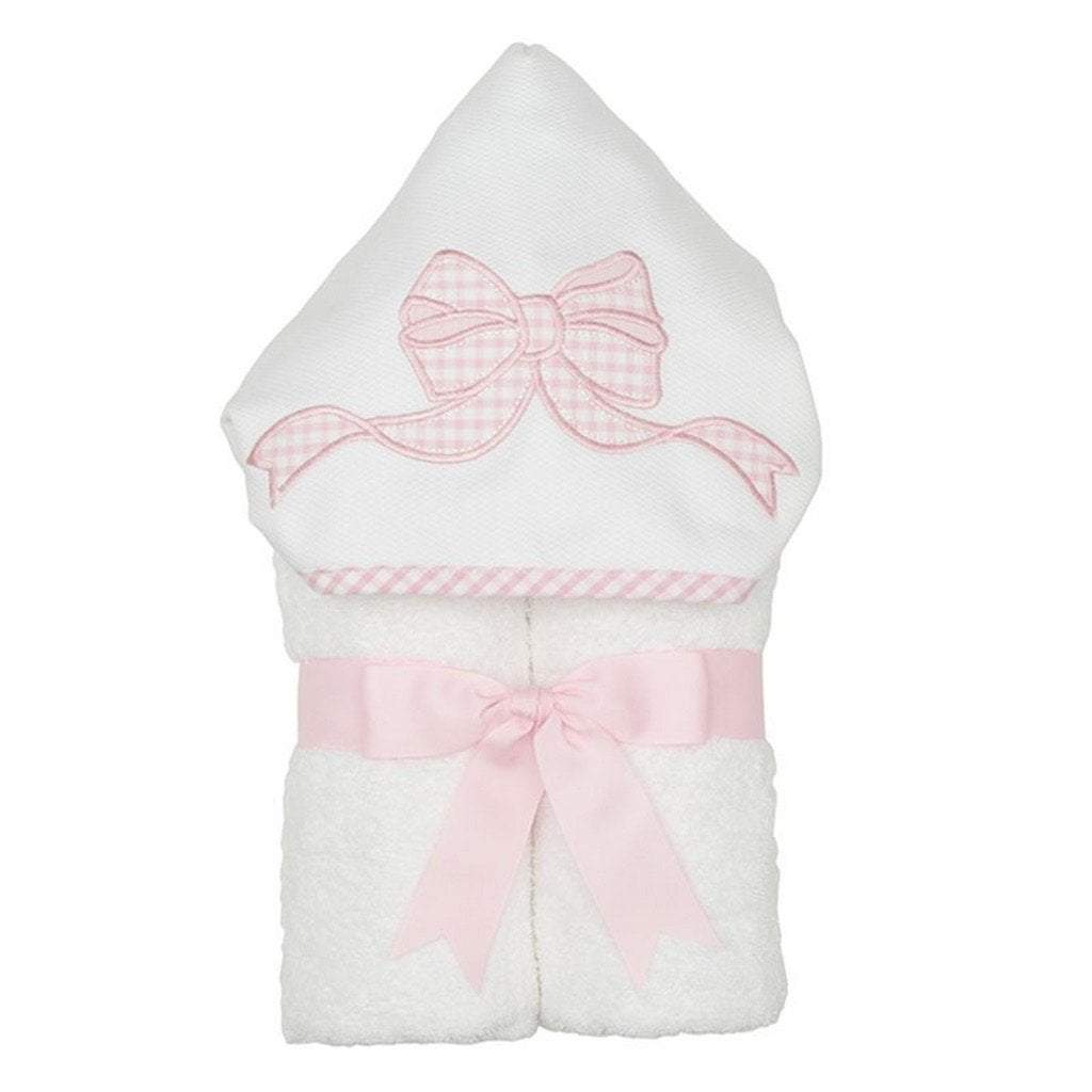 3 Marthas Baby Care 3 Marthas Everykid Hooded Towel Pink Bow