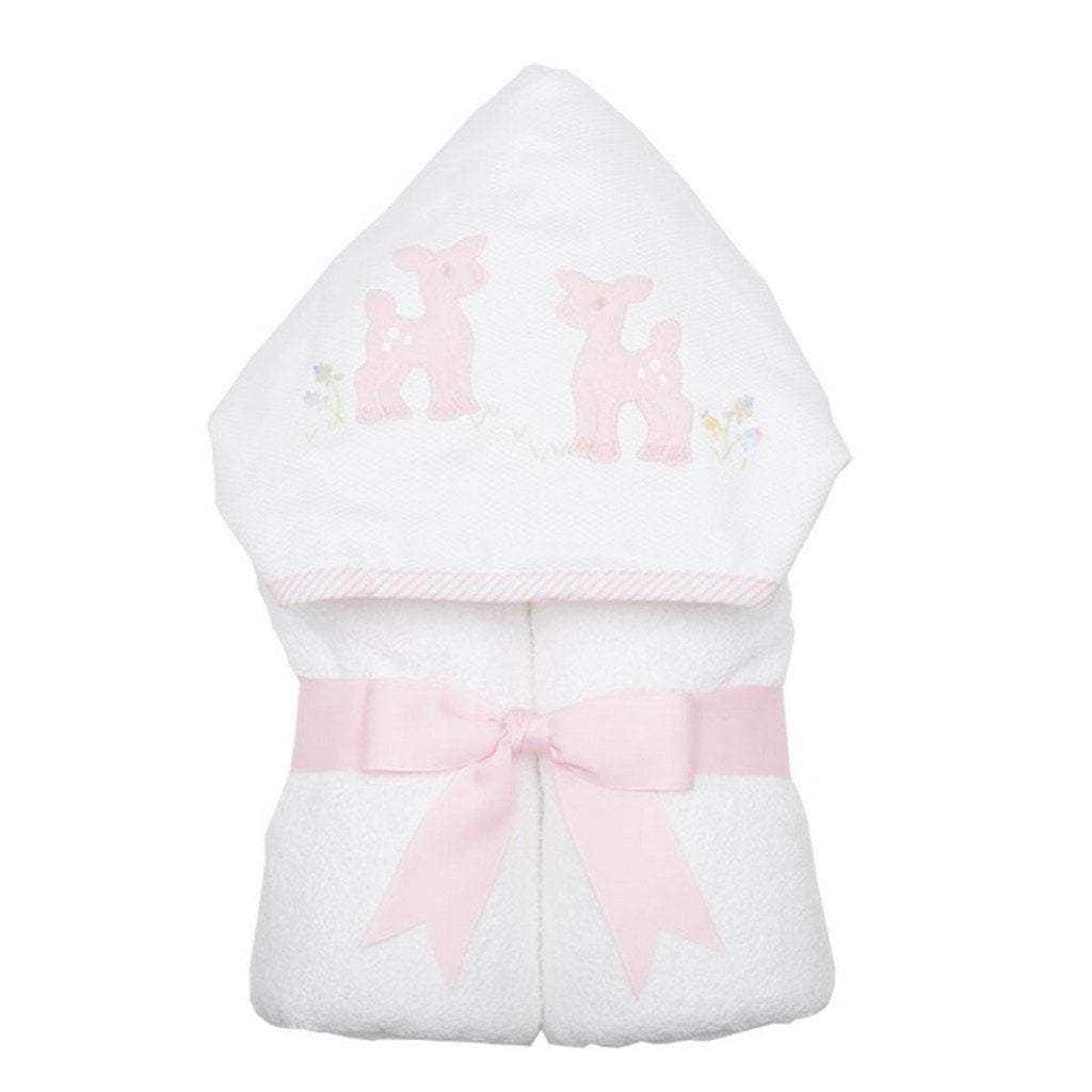 3 Marthas Baby Care 3 Marthas Everykid Hooded Towel Pink Deer