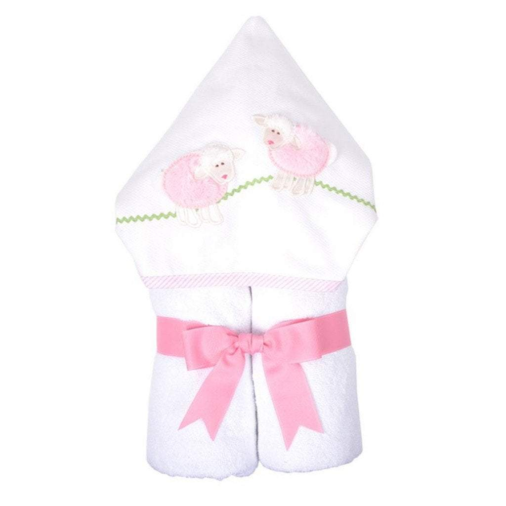 3 Marthas Baby Care 3 Marthas Everykid Hooded Towel Pink Lamb