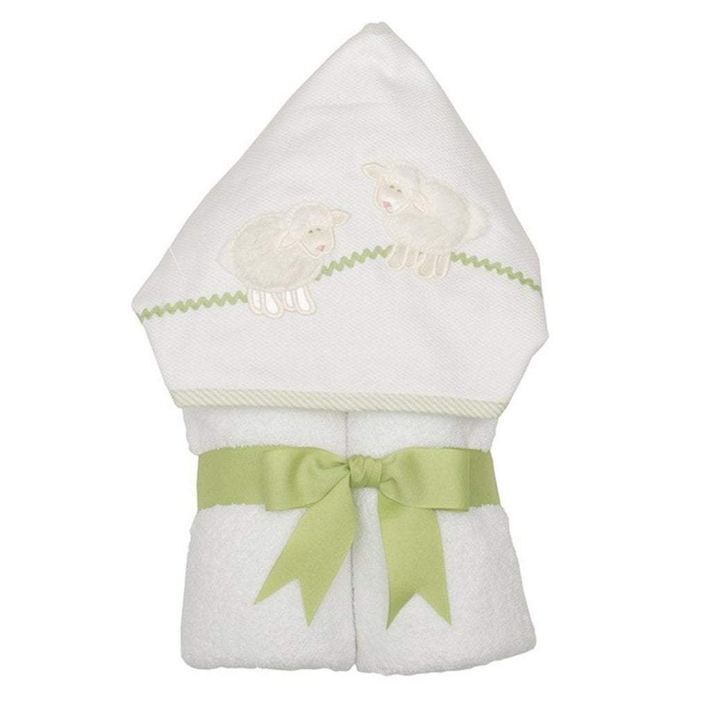 3 Marthas Baby Care 3 Marthas Everykid Hooded Towel White Lamb