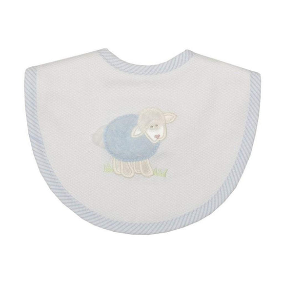 3 Marthas Baby Care 3 Marthas Medium Bib Blue Lamb