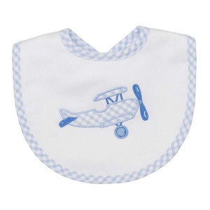3 Marthas Baby Care 3 Marthas Medium Bib Blue Plane