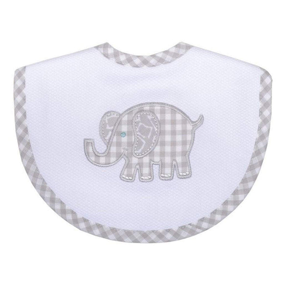 3 Marthas Baby Care 3 Marthas Medium Bib Gray Elephant
