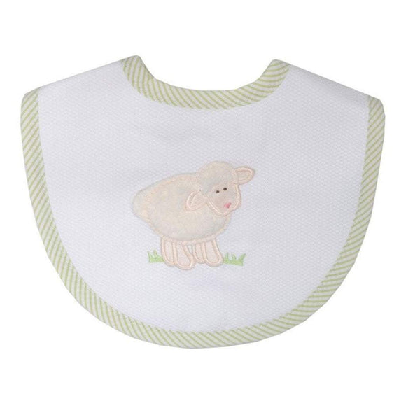 3 Marthas Baby Care 3 Marthas Medium Bib Green Lamb