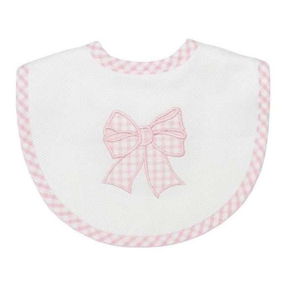 3 Marthas Baby Care 3 Marthas Medium Bib Pink Bow