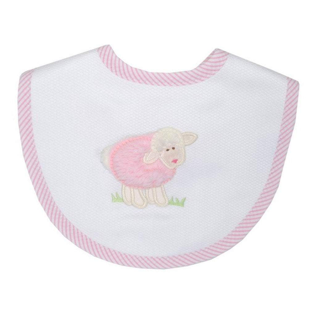 3 Marthas Baby Care 3 Marthas Medium Bib Pink Lamb
