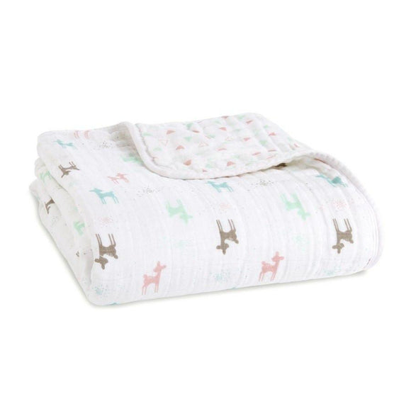 Aden and Anais Classic Baby Dream Blanket Brixy Camp Girl-Gifts & Apparel-Babysupermarket