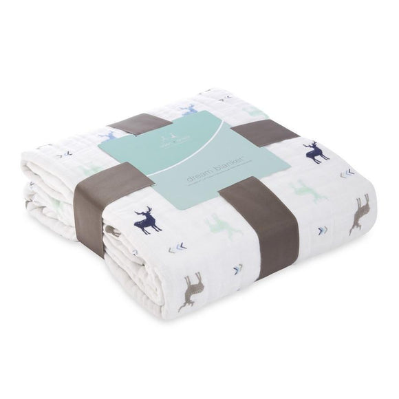 Aden and Anais Classic Baby Dream Blanket Brixy Scout-Gifts & Apparel-Babysupermarket