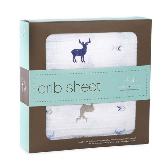 Aden and Anais Classic Infant Crib Sheet Brixy Scout-Gifts & Apparel-Babysupermarket