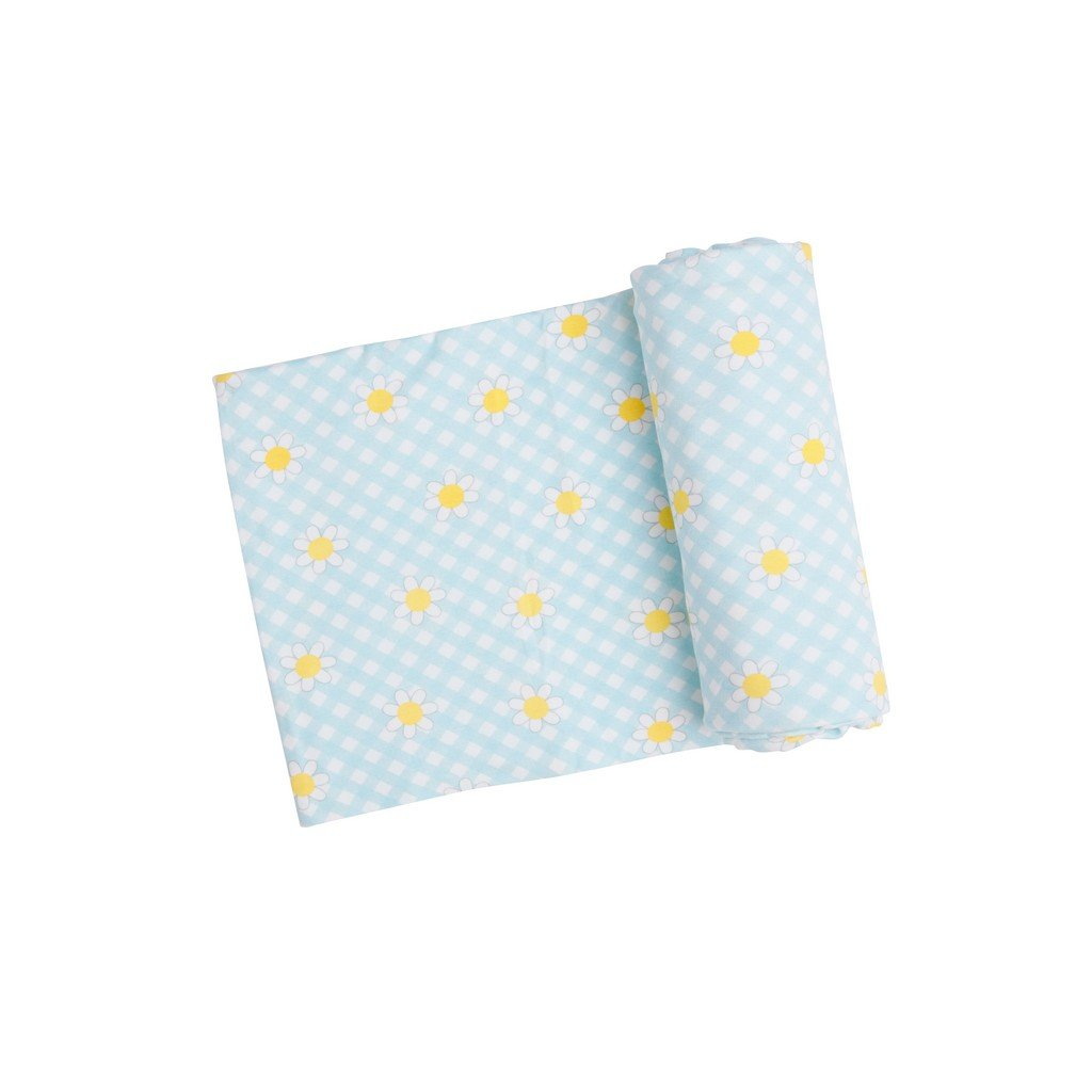 Angel Dear Baby Blankets Angel Dear Gingham Daisy Swaddle Blanket