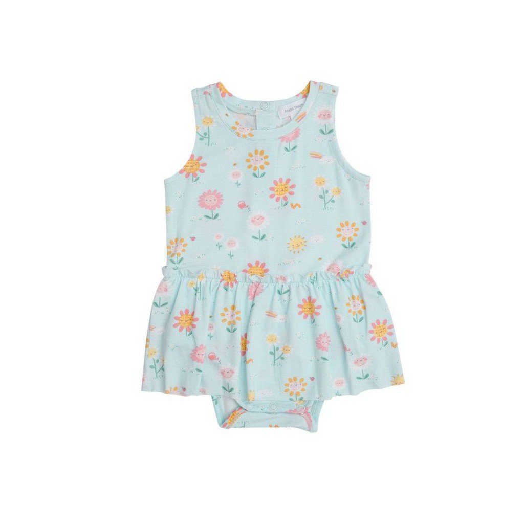 Angel Dear Apparel 3-6 Mo / Blue Angel Dear Hello Daisy Skirt Bodysuit
