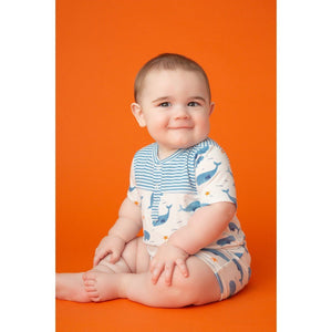Angel Dear Apparel Angel Dear Infant Boys Shortall in Whale Pod