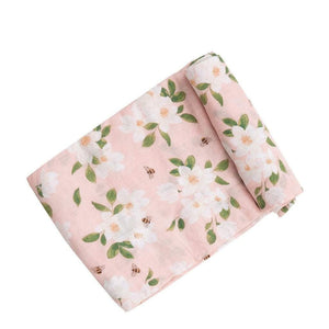 Babysupermarket Angel Dear Infant Swaddle Blanket in Magnolias