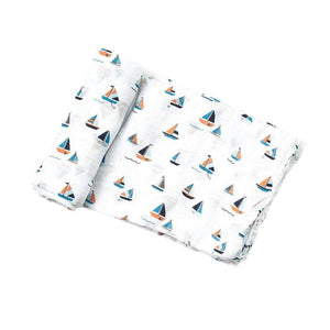 Angel Dear Baby Blankets Angel Dear Infant Swaddle Blanket in Simple Boats