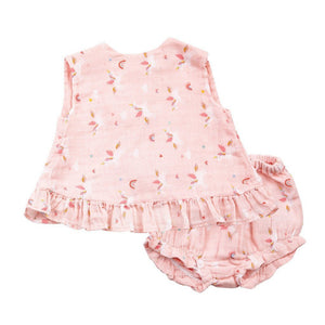Angel Dear Infant Apparel Angel Dear Infant Top and Bloomer with Ruffles in Unicorns