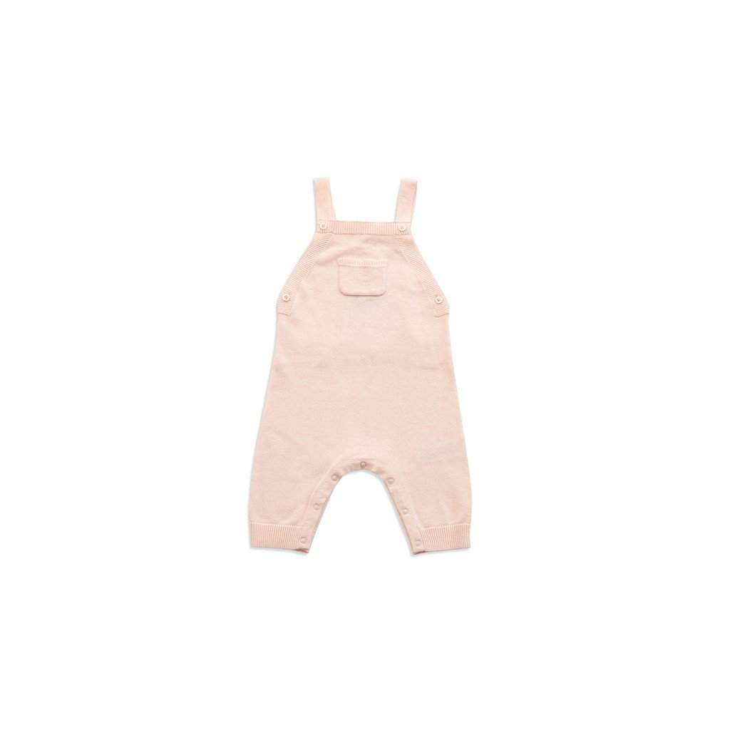 Angel Dear Infant Apparel Angel Dear Light Pink Knit Overall