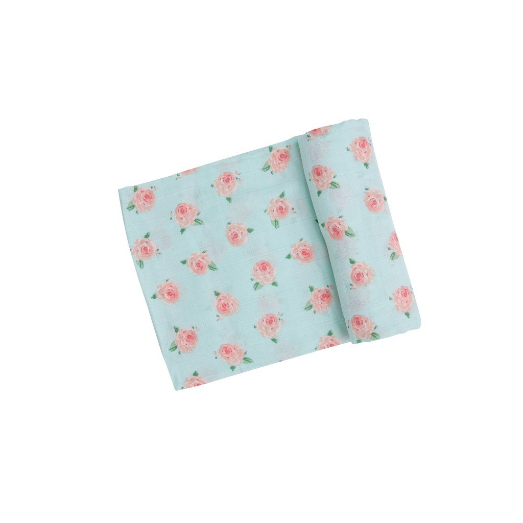 Angel Dear Baby Blankets Angel Dear Petit Rose Muslin Swaddle Blanket
